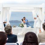 Ρομαντικός γάμος στη Σαντορίνη