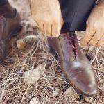Καφέ δετά παπούτσια για το γαμπρό Zara