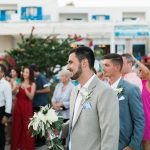 Rustic wedding with olive branches in Kythera