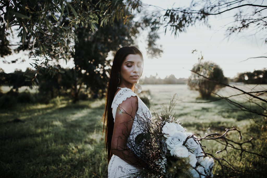 Hellenic vintage inspirational shoot in the woods with Atelier Zolotas wedding dress
