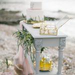 στολισμός γάμου στην παραλία