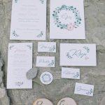 προσκλητήρια γάμου με κλαδί ελιάς