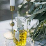 μπομπονιέρα μπουκάλι με λάδι ελιάς