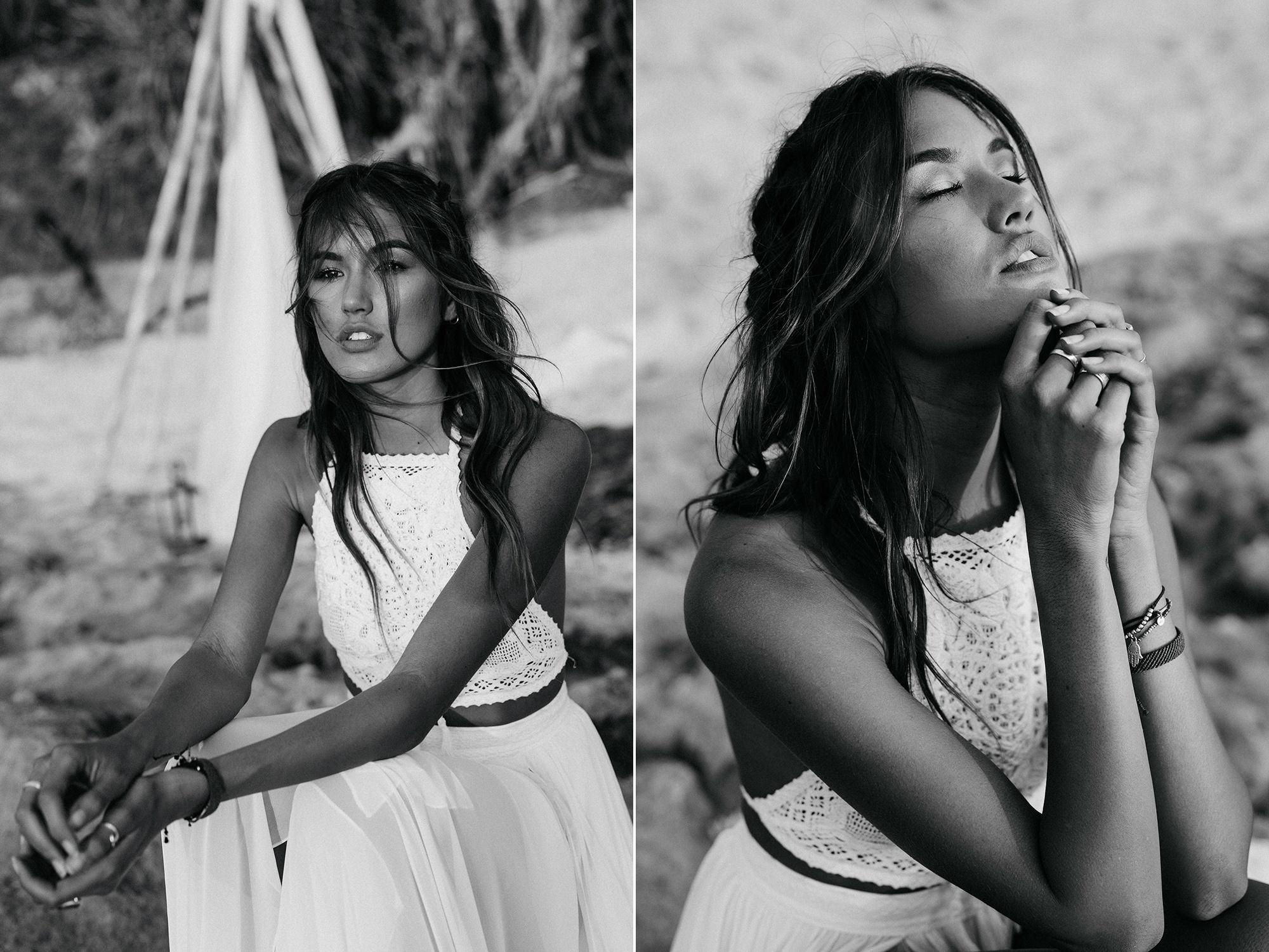 Boho inspirational shoot στο Μπαλί με νυφικό Atelier Zolotas