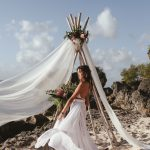 Boho inspirational shoot in Bali with Atelier Zolotas wedding dress