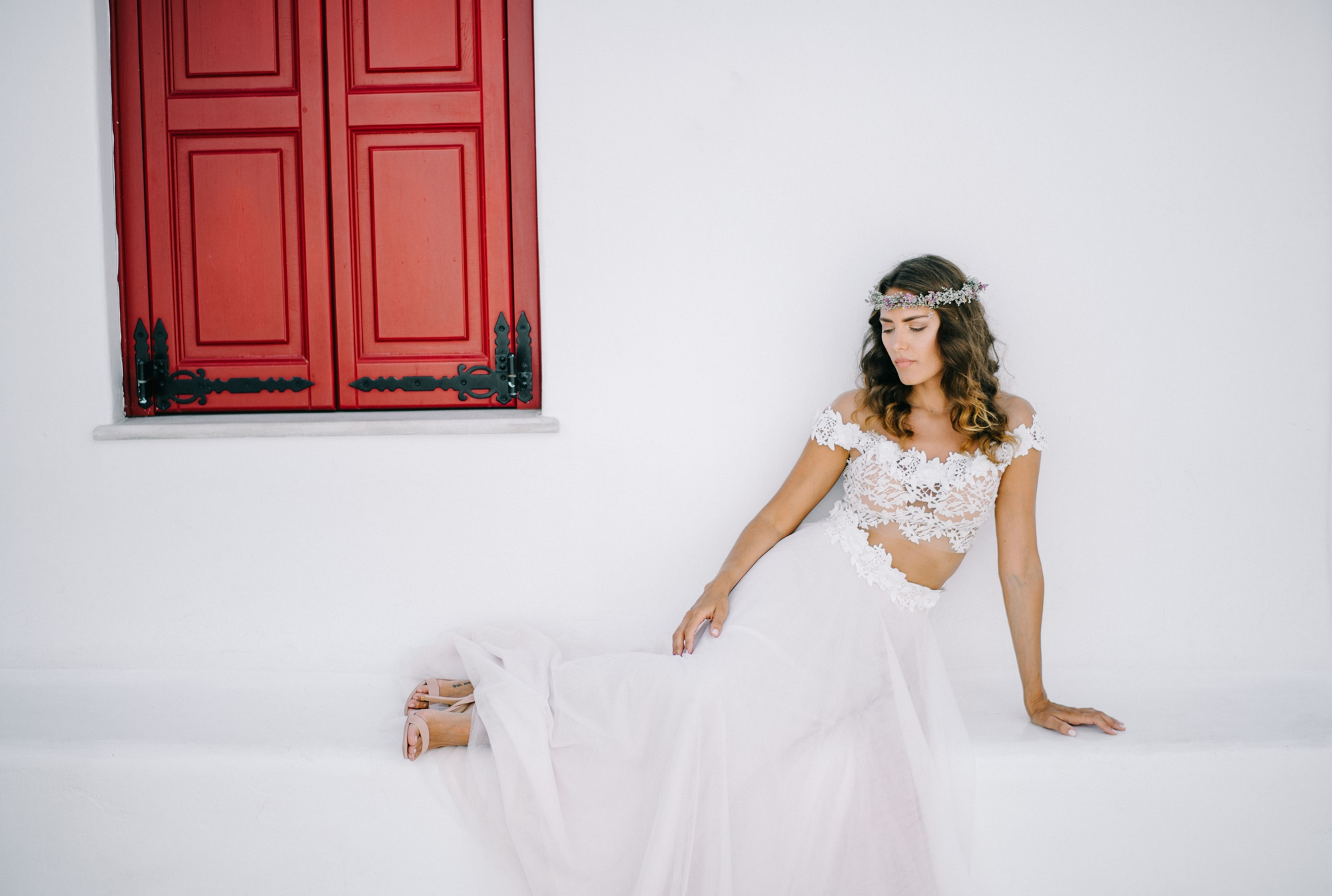 Bridal fashion shoot in Mykonos