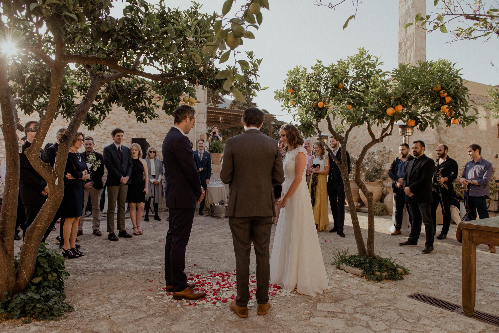 Ένας intimate γάμος στην Κρήτη