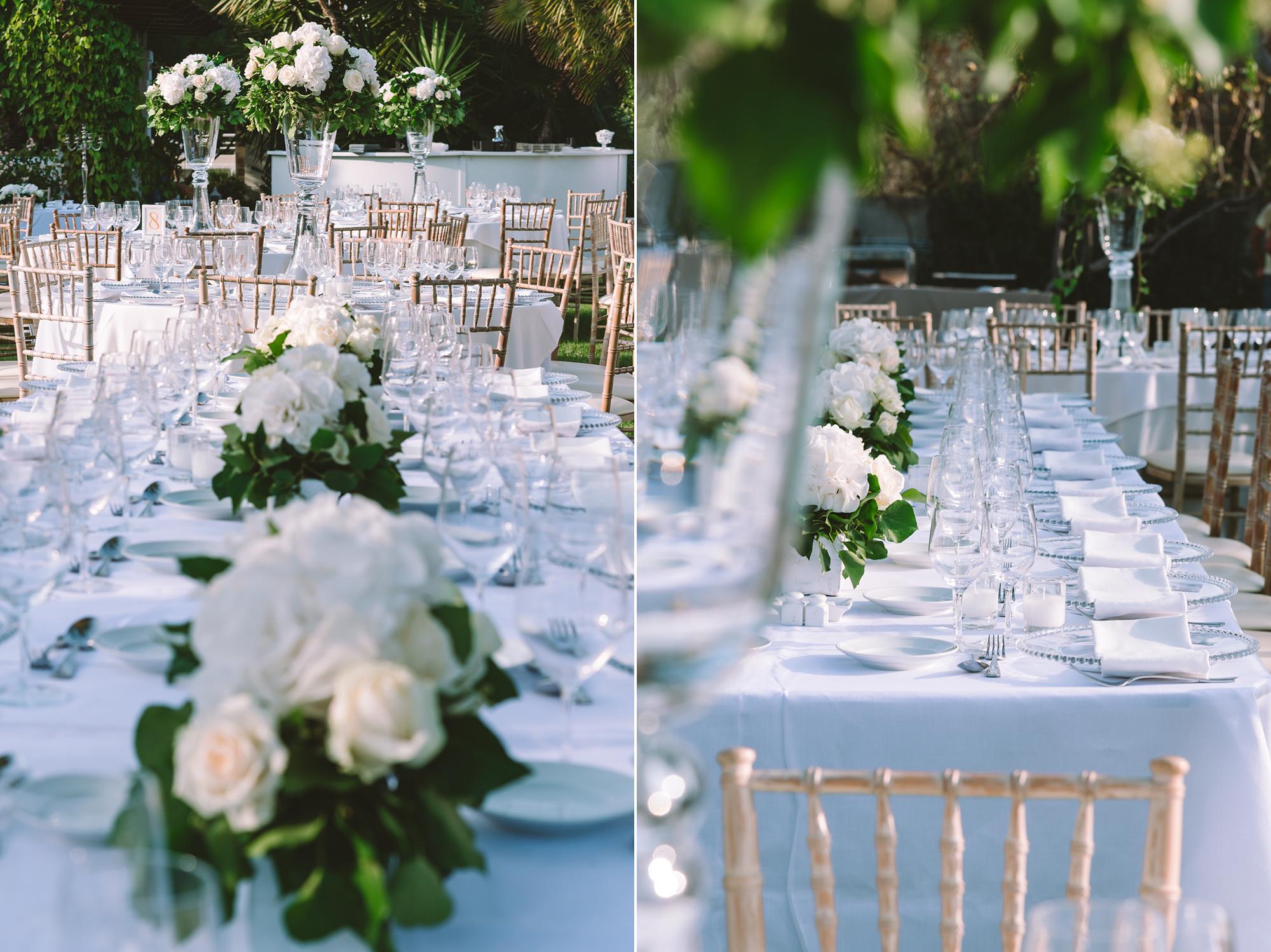 """A """"fresh"""" white & green garden wedding"""
