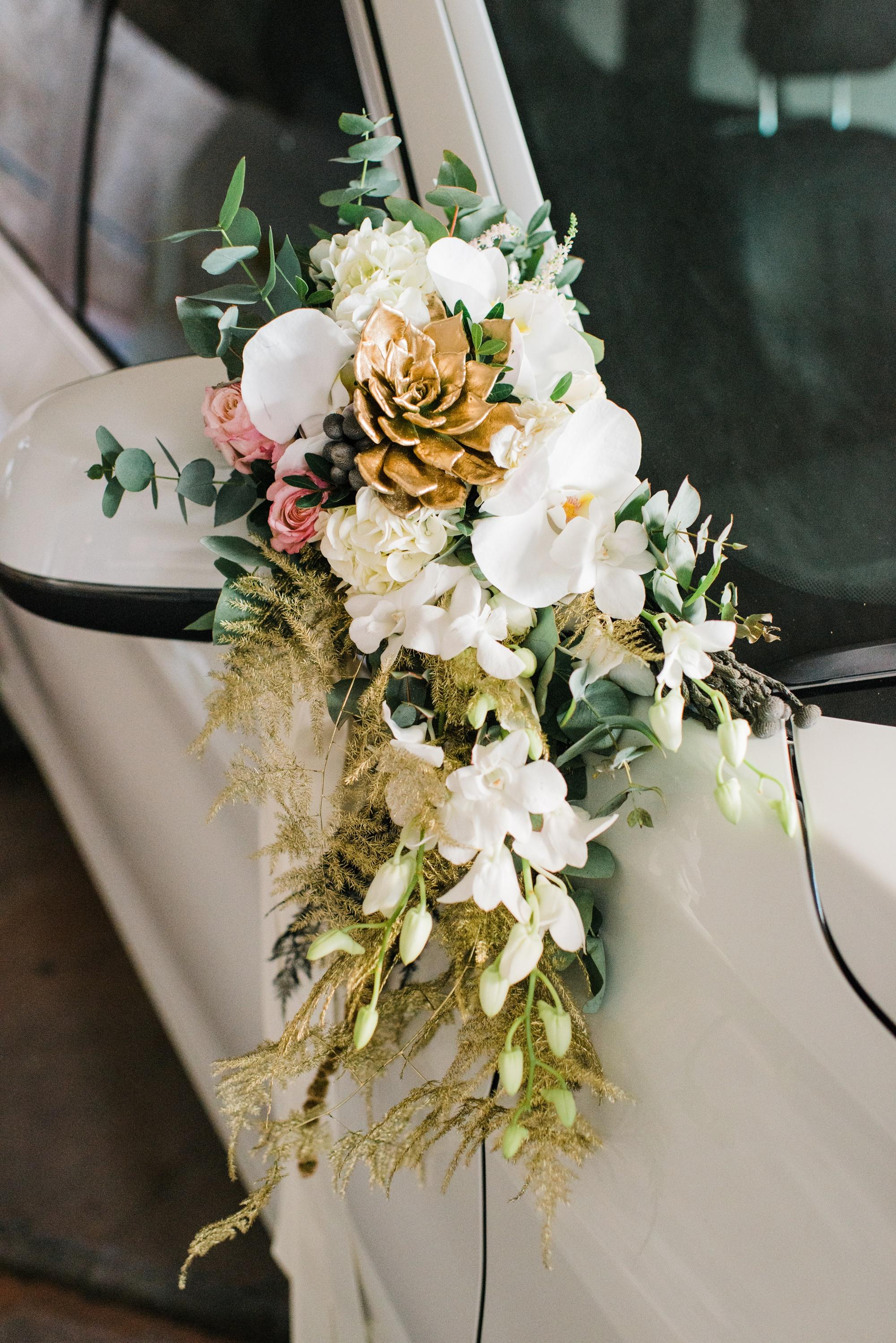 στολισμός αυτοκινήτου της νύφης