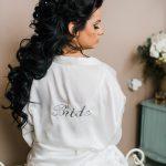 ρόμπα για την προετοιμασία της νύφης