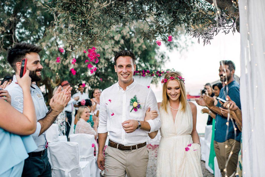 Boho intimate summer wedding in Chalki