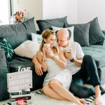 Cozy engagement session at home