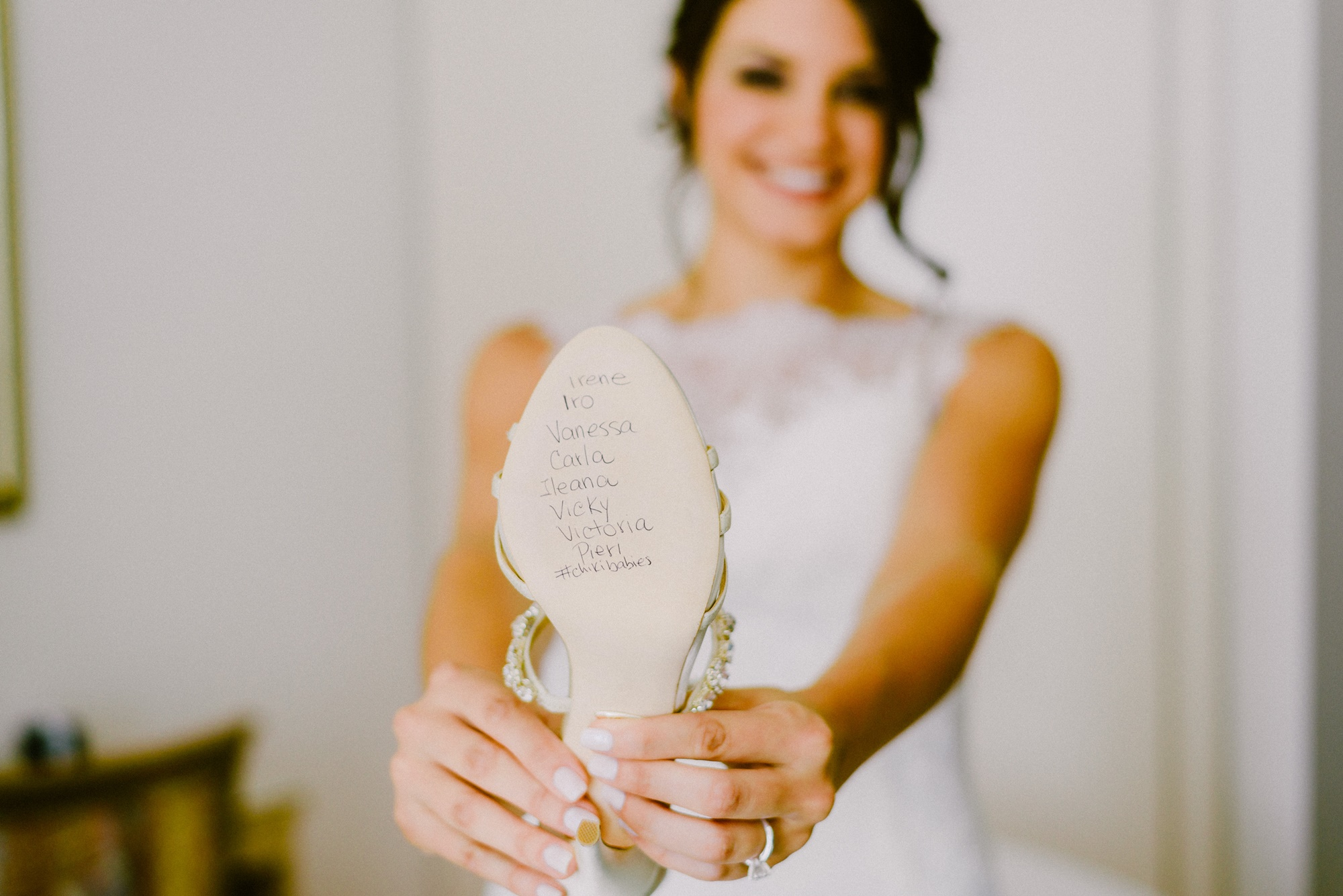 Romantic wedding in Athens with olive brunches