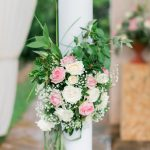 Chic romantic wedding with roses at The Residence