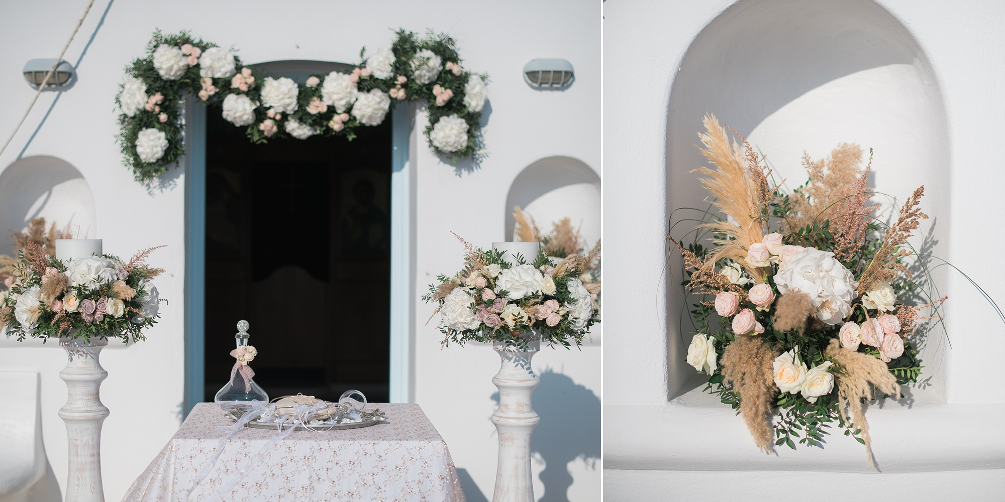 Chic romantic wedding in Mykonos