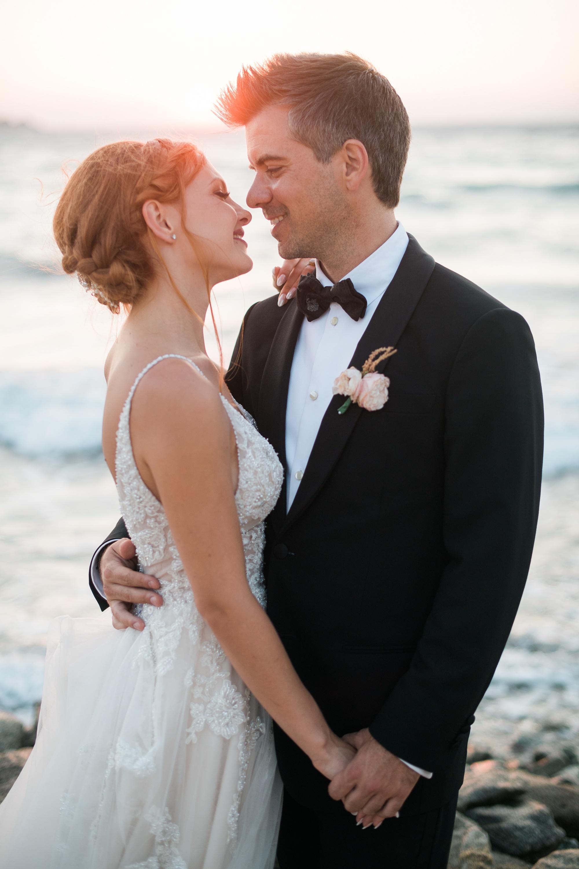 Κομψός ρομαντικός γάμος στη Μύκονο