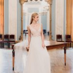 Vintage bridal inspirational shoot at a neoclassical theater