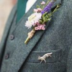 Unique boutonnieres for a stylish groom