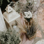 Beautiful romantic wedding with lavender scent