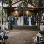 Rustic γάμος με αποχρώσεις του ροζ και του χρυσού