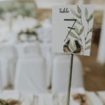 Rustic wedding with olive branches in Kavala