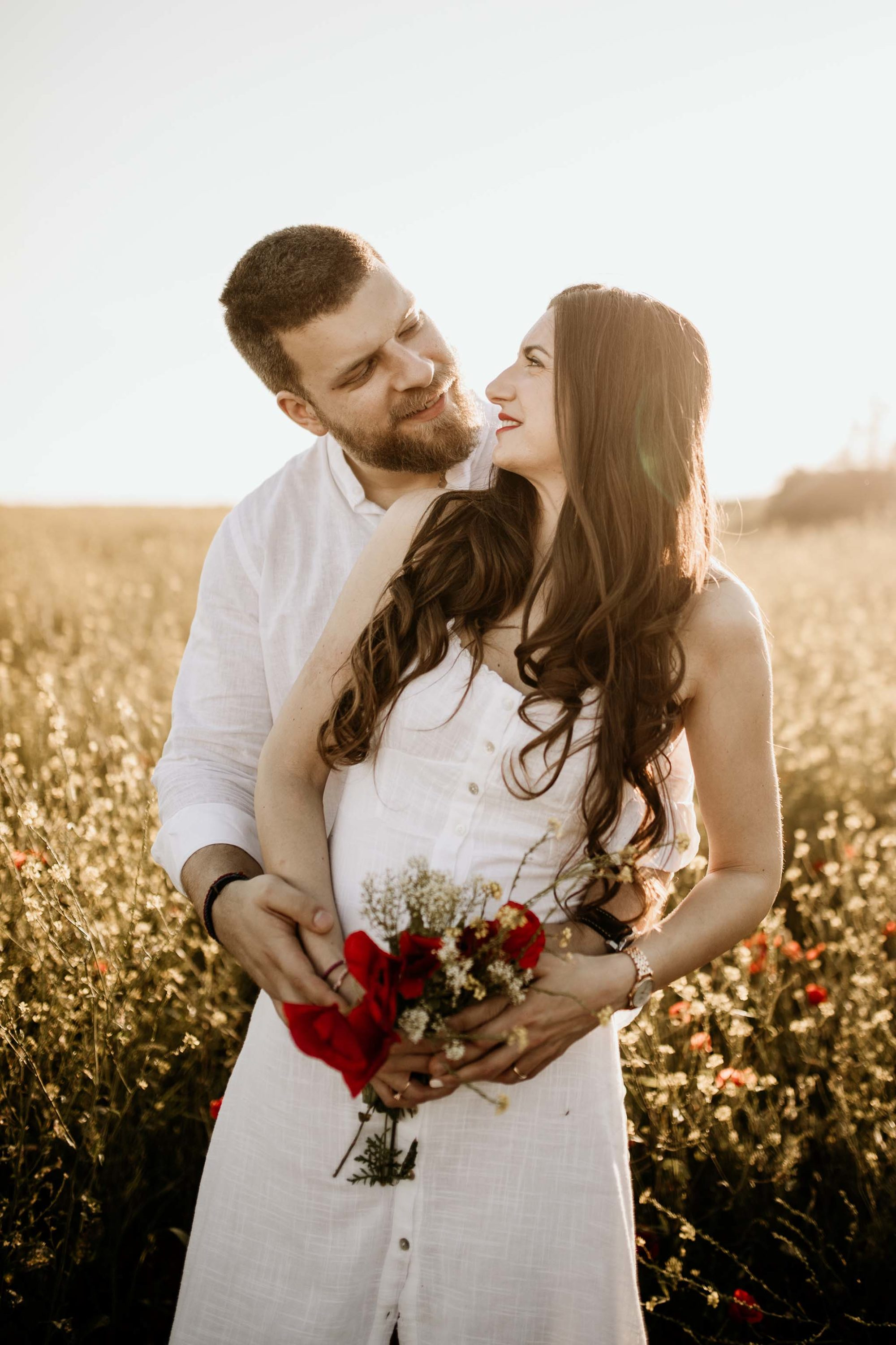 Spring engagement session