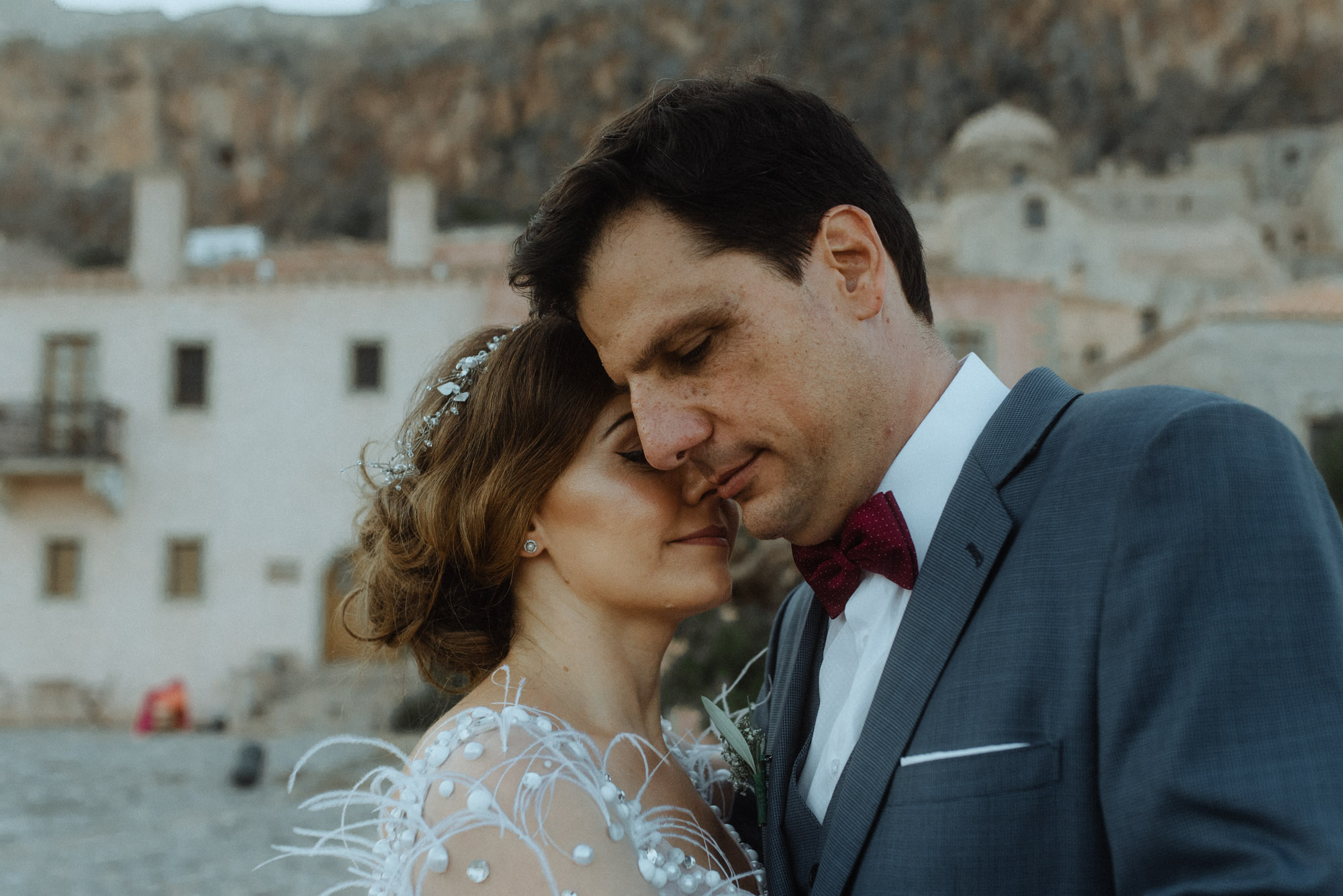 Wedding in Monemvasia with olive branches
