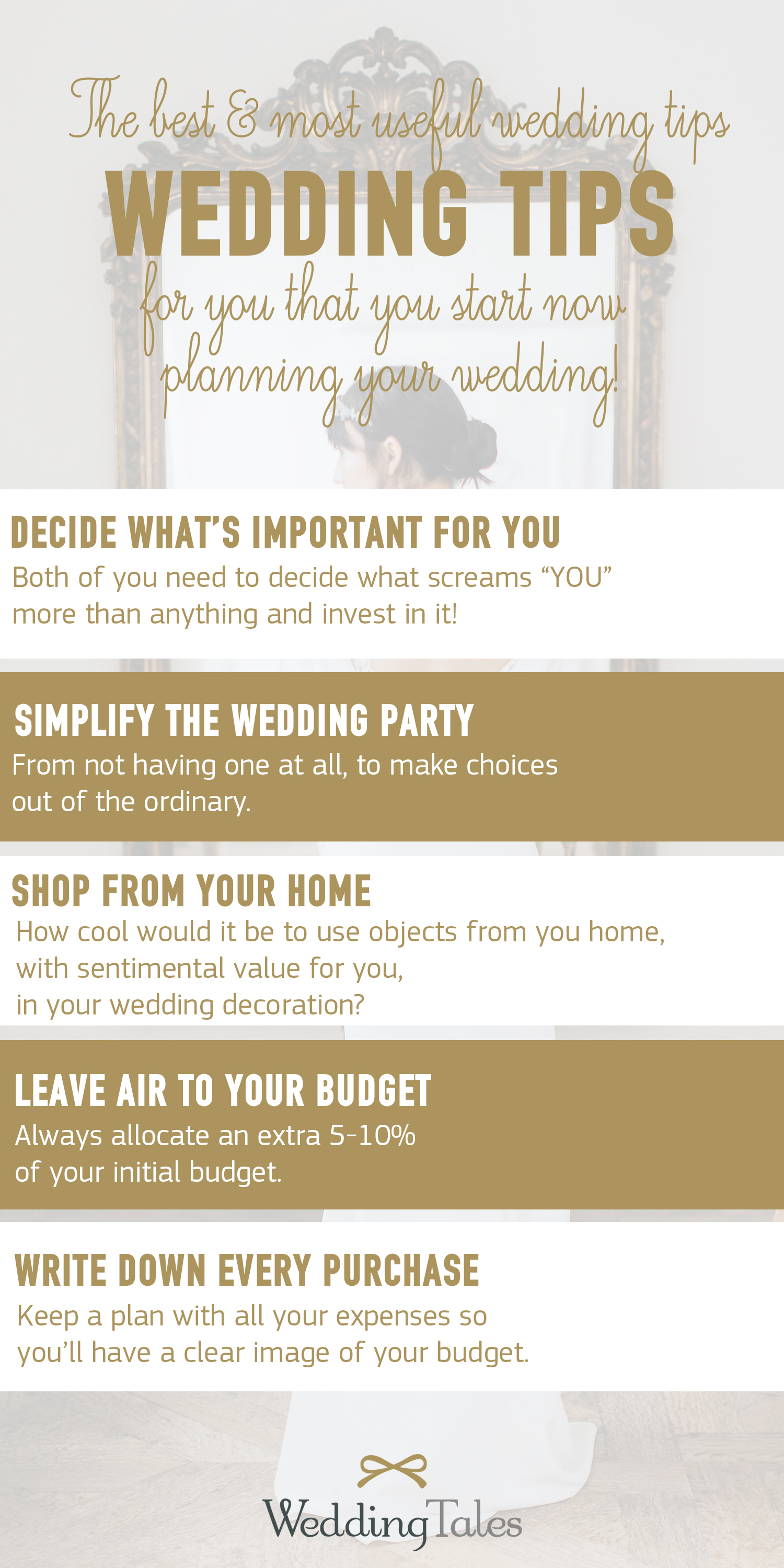 The best and most useful wedding tips