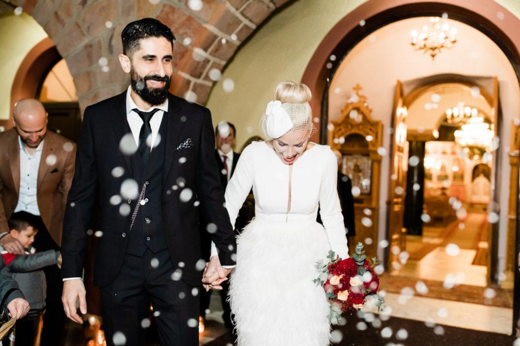 Ένας υπέροχος μοντέρνος Χριστουγεννιάτικος γάμος
