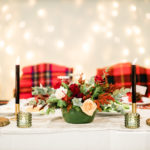 A wonderful modern Christmas wedding