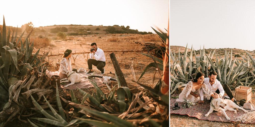 Ένας whimsical boho γάμος στην Κρήτη
