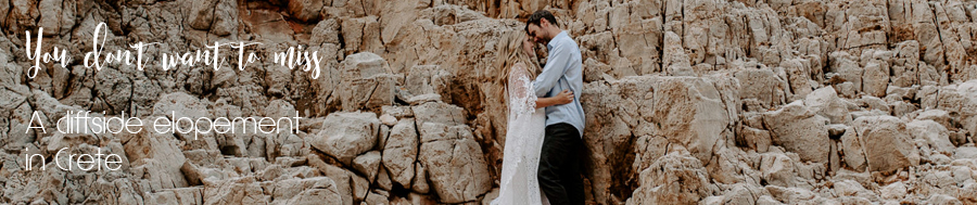 A cliffside elopement in Crete
