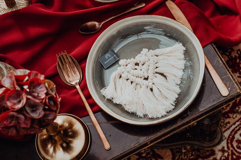 Oriental inspirational shoot with macramé elements