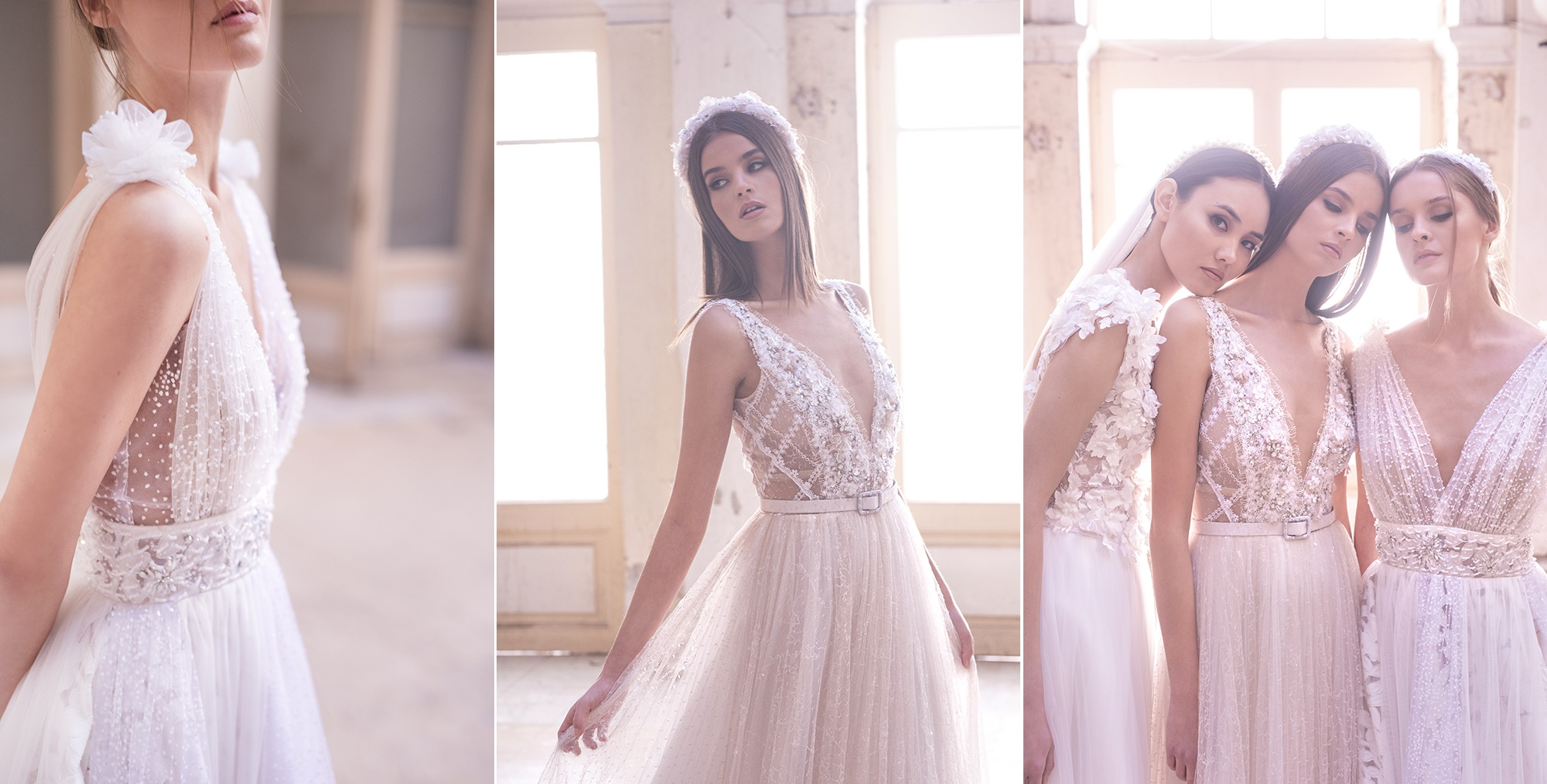 Romantic haute couture wedding dresses by Maison Renata Marmara