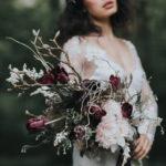 Dark romance inspirational shoot with Rime Arodaky wedding dresses